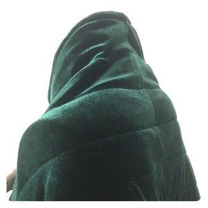 Soft Emerald Green Velvet Stole Shawl